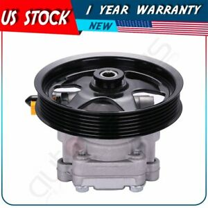 92161580 New Power Steering Pump With Pulley For 2005 2006 Pontiac Gto 6 0l V8