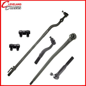 6 Pc Steering Kit Ford Excursion F 250 Sd F 350 Sd 99 05 Tie Rod Ends Link 4wd