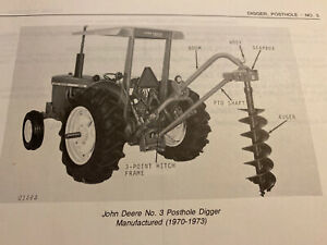 John Deere 3 Posthole Post Hole Digger Parts Catalog Manual Book Original 3 78