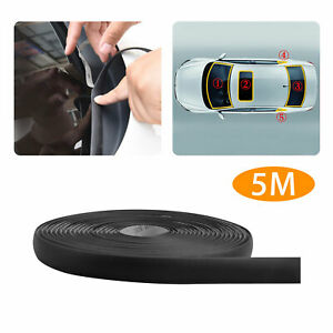 5m 196 Waterproof Rubber Seal Weather Strip Trim For Car Front Rear Windshield
