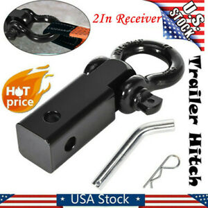 3 4in D ring Shackle Towing For Trucks Jeeps Trailer Hitch 2in Receiver