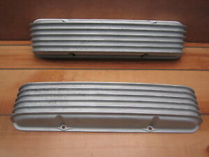 Cal Custom 40 1000 Sb Chevy Aluminum Finned Valve Covers Vintage 55 59 Staggered