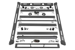 Rough Country Jeep Roof Rack System W black series Led Lights 07 18 Jk