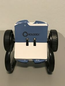 Rolodex Open Rotary Card Business Card File Holder 4 X 2 25 A Z Index