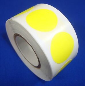 1000 Yellow Self adhesive Price Labels 3 4 Stickers Tags Retail Store Supplies
