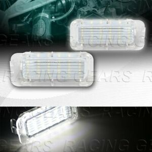 18 Smd Led White License Plate Lights Fit Ford Focus Expedition Edge Explorer