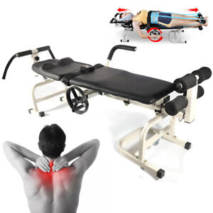 Therapy Massage Table Cervical Spine Bone Traction Bed Lumbar Stretching Device