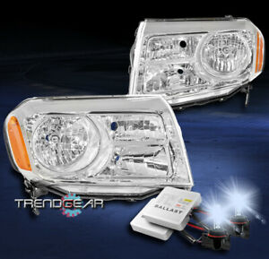 For 2012 2013 2014 2015 Honda Pilot Suv Replacement Headlight Chrome W 8000k Hid