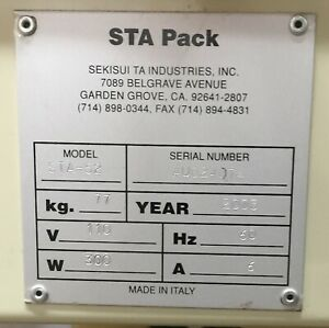 Box Sealer Sta Pack Model Sta 52 Made In Italy Excellent Condition