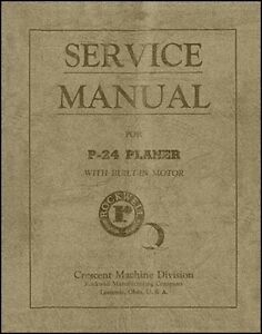 Rockwell P 24 Planer Service Manual