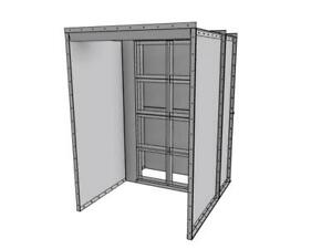 New 5 Wide X 7 Tall X 3 5 Deep Open Face Powder Coat Spray Booth