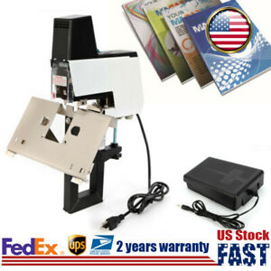 Electric Auto Stapler Binder Flat Saddle Stitcher Bookbinding Stitch Machine