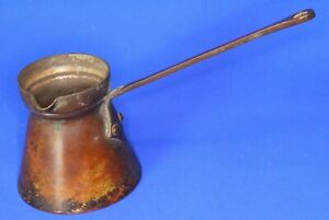 Antique Vintage Copper Stove French Coffee Pot L 19cm 19049