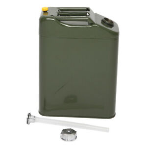 5 Gal 20l Gas Gasoline Fuel Backup Tank Army Nato Metal Steel Military Jerry Can