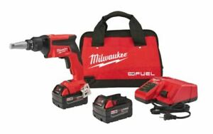 Milwaukee 2866 22 M18 Fuel Drywall Screw Gun Kit W 2x 5 0ah Battery New