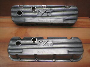 Mickey Thompson Big Block Chevy Vintage M T Finned Aluminum Valve Covers Gary S