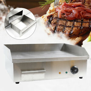 Commercial Electric Griddle Cooktop Grill Bbq Thermostat Control Adjust 3000w