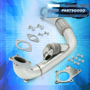 For 04 06 Mazda 3 03 06 Ford Focus 2 3l S s Turbo Exhaust Flex Piping Downpipe