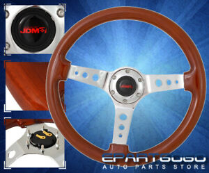 For Pontiac 345mm Light Weight Steel Center Lgiht Brown Trim Steering Wheel Kit $102.99