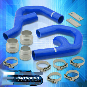 For 06 10 Volkswagen Gti Mkv 2 0t Turbo Intercooler Piping Kit W Blue Couplers