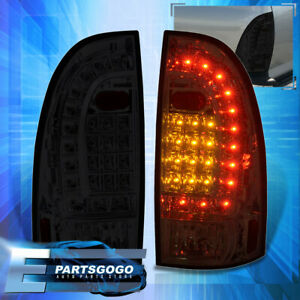 For 05 15 Toyota Tacoma Replacement Led Tail Lights Stop Brake Lamps Pair Smoked