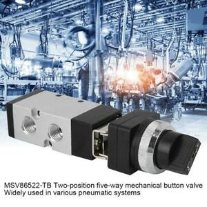 2 position 5 way Mechanical Button Valve Switches Valve For Pneumatic System Ut