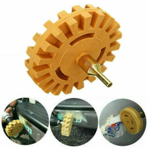 4 Inch Rubber Eraser Wheel Drill Stripe Decal Sticker Pneumatic Removal Tool Kit