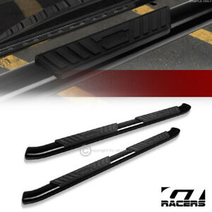 For 2004 2014 Ford F150 Super ext Cab 5 Black Oval Bent Side Step Nerf Bars Hd