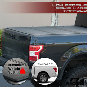 For 2016 2021 Nissan Titan 5 5 Bed Low Profile Hard Tri Fold Abs Tonneau Cover