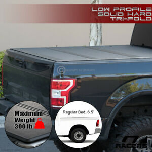 For 2009 2018 Dodge Ram 6 4 6 5 Bed Low Profile Hard Tri Fold Abs Tonneau Cover