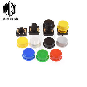 Momentary Tactile Push Button Switch 4p W cap 12x12x7 3 10 12mm A2tm