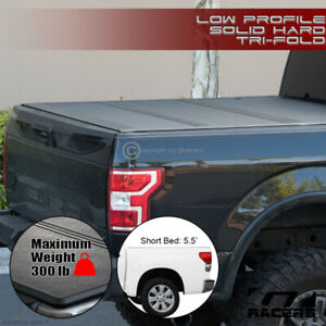 For 2014 2020 Toyota Tundra 5 5 Bed Low Profile Hard Tri Fold Abs Tonneau Cover