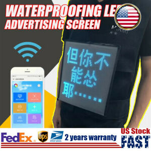 Full Color Led Screen Vest Display Advertising Waterproof Outdoor Business Sign