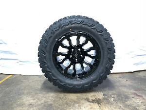 18x9 Fuel D673 Blitz Black Wheels Rims 33 Mt Tires 6x5 5 Gmc Sierra 1500 Yukon