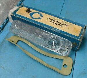 Nos Mopar 1964 Plymouth Fury Belvedere Savoy Left Park Lamp Lens Clear Export