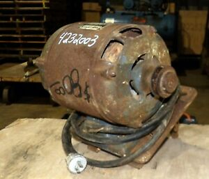 1 Hp Old School Craftsman Classic Table Saw Motor dual Shaft W Mount pulley