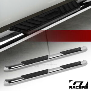 For 2005 2020 Tacoma Double crew Cab 5 Bent Oval Side Step Nerf Bars Chrome