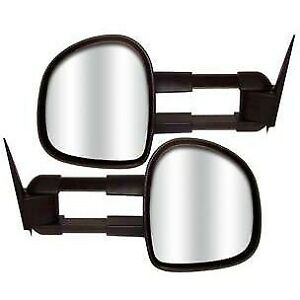 80100 Cipa New Set Of 2 Towing Mirrors Driver Passenger Side Heated Lh Rh Pair