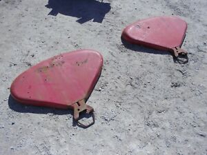 Farmall 240 Rowcrop Tractor Original Ih Clamshell Fenders W U Bolt Clamps