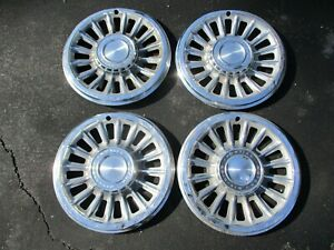 Factory 1965 Pontiac Catalina Bonneville 14 Inch Hubcaps Wheel Covers Beaters