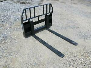 Ansung 48 Forks For Skid Steer Loaders Ssl Quick Attach 4000 Lb Capacity