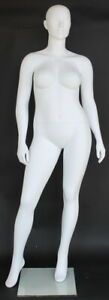 6 Ft 1 In Plus Size size 12 Female Mannequin Abstract Head Body Torso Plus 77