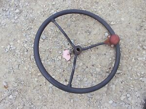 Farmall Super H Sh Ih Tractor Steering Wheel W Knuckler