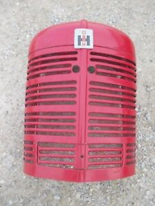 Farmall Super H Sh Tractor Nice Original Radiator Front Nose Cone Grill Emblem