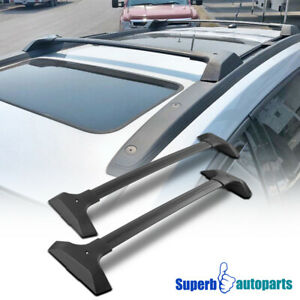 For 2009 2017 Traverse Factory Style Aluminum Top Cargo Roof Rack Cross Bars