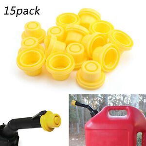 15x Yellow Spout Cap Top For Fuel Gas Can Blitz 900302 900092 900094 At2 At