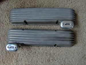 Vintage Cal Custom 40 2000 283 327 350 Small Block Chevy Valve Covers Moon