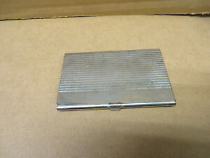 Business Card Holder Bright Metal Good Used Cleaning Required
