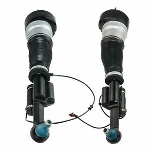 Pair Front Air Struts Airmatic Suspension For 2007 2013 Mercedes W211 S550