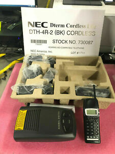 new In Box Nec Dth 4r 2 Cordless Telephone Set 730087 90 Day Warranty